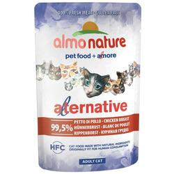 Almo Nature Alternative Паучи для кошек Куриная Грудка 99,5% мяса. Alternative - Chicken Breast