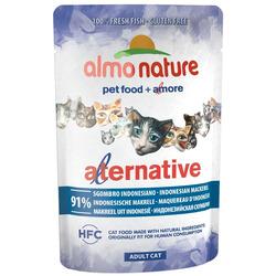 Almo Nature Alternative Паучи для кошек Индонезийская макрель 91% мяса. Alternative - Indonesian Mackerel