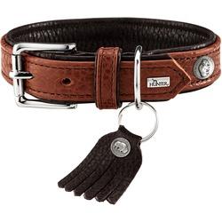 Hunter Ошейник для собак Cody кожа бизона коньячный/темно-коричневый