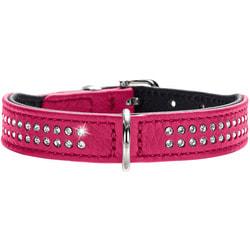 Hunter Ошейник для собак Diamond petit кожа розовый