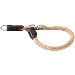 Hunter Ошейник-удавка для собак Freestyle нейлоновая стропа бежевый