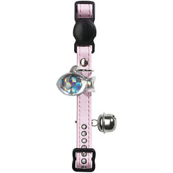 Hunter Smart ошейник для кошек со стразами Modern Luxus кожзам светло-розовый