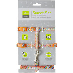 Hunter Smart шлейка для кошек и собак Seventies нейлон оранжевая