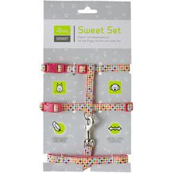 Hunter Smart шлейка для кошек и собак Seventies нейлон розовый