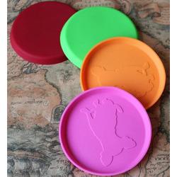 Антицарапки Игрушка для собак Летающая тарелка Мини силиконовая