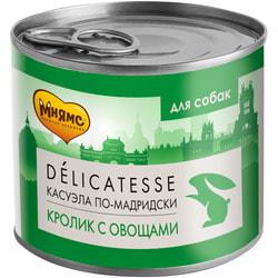 Мнямс Корм для собак Касуэла по-Мадридски кролик с овощами