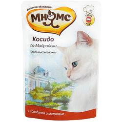 Мнямс Паучи для кошек Блюда Высокой Кухни Косидо по-Мадридски говядина с морковью