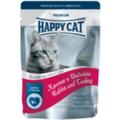 Happy Cat Пауч для кошек кусочки в соусе Кролик и Индейка с морковью