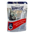 Happy Cat Пауч для кошек кусочки в соусе Говядина и Баранина