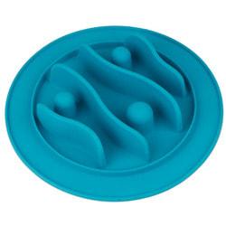 SuperDesign Миска силиконовая для медленного поедания, голубая