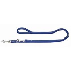 Hunter Поводок-перестежка для собак Cannes натуральная кожа синий