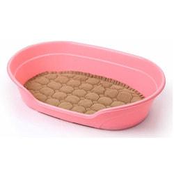 Пластиковый лежак Lion Розовый с подушкой