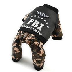 4 My Pets Комбинезон для собак FBI на флисе