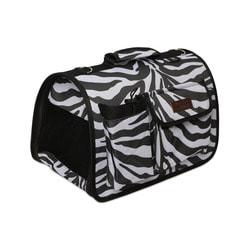 Lion Сумка переноска Зебра черная с карманами на ножках