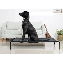 Lion Лежак-топчан для крупных пород собак черного цвета