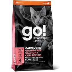 Сухой корм Go! Natural Holistic беззерновой для Котят и Кошек с Лососем и Треской (GO! CARNIVORE GF Salmon + Cod Recipe for Cats) 42/16