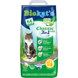Наполнитель Biokats Classic Fresh комкующийся c ароматизатором
