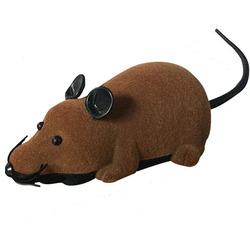 Антицарапки Игрушка для кошек Мышь радиоуправляемая Коричневая
