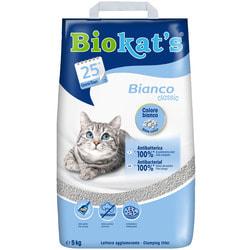 Наполнитель Biokats Bianco комкующийся белый