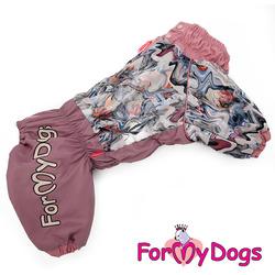 ForMyDogs Комбинезон для больших собак Нежно-розовый на девочку