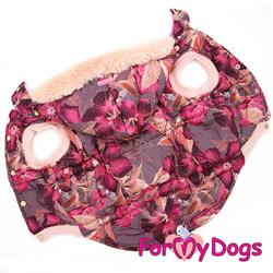 ForMyDogs Куртка с капюшоном для больших собак Бордо