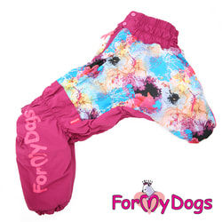 ForMyDogs Теплый комбинезон для больших собак Розовый девочка