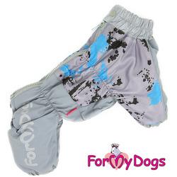 "ForMyDogs Теплый комбинезон для больших собак ""Серый"" мальчик"
