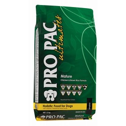 Pro Pac Ultimates Сухой корм для пожилых собак всех пород курица с коричневым рисом