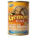 Gemon Консервы для кошек кусочки в соусе с курицей и индейкой