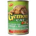 Gemon Консервы для кошек кусочки в соусе с кроликом и дичью