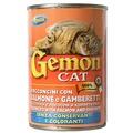 Gemon Консервы для кошек кусочки в соусе с лососем и креветками