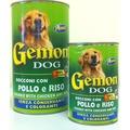 Gemon Консервы для для собак кусочки в соусе с курицей и рисом