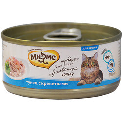 Мнямс Консервы для кошек Тунец с креветками в нежном желе